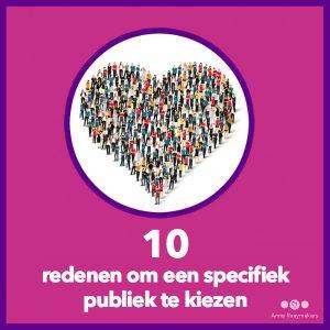 10 redenen specifiek publiek