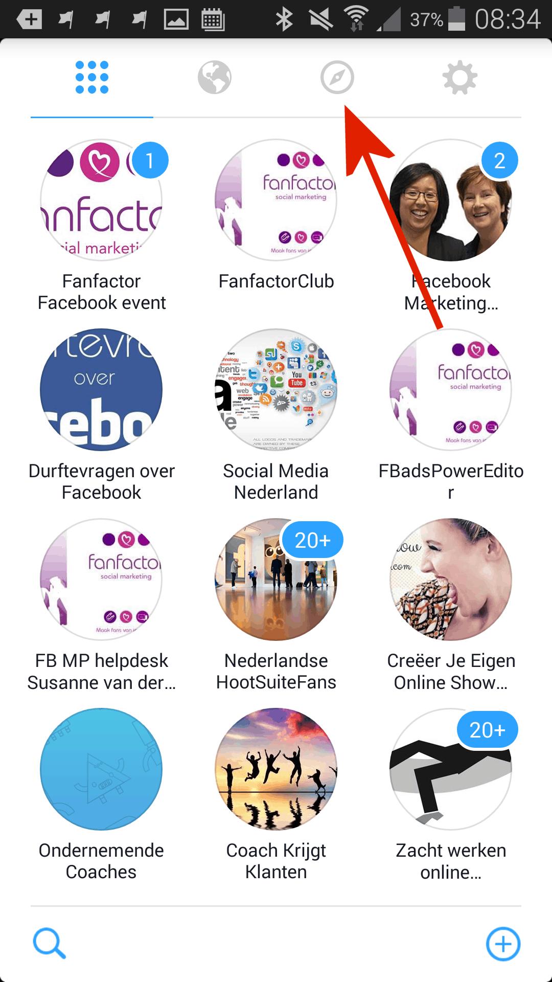Facebook groepen app