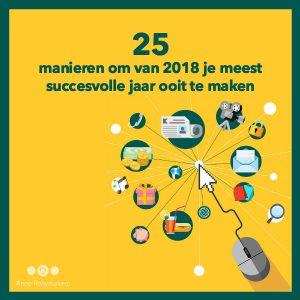 25 manieren voor een succesvol 2018