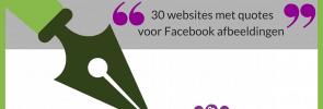 30 websites met quotes voor Facebook afbeeldingen