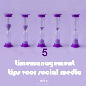 5 timemanagement tips voor social media