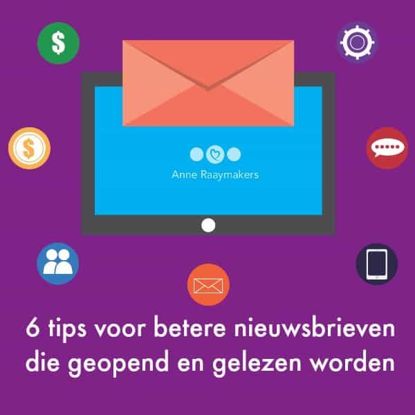 6 tips voor betere nieuwsbrieven die geopend en gelezen worden