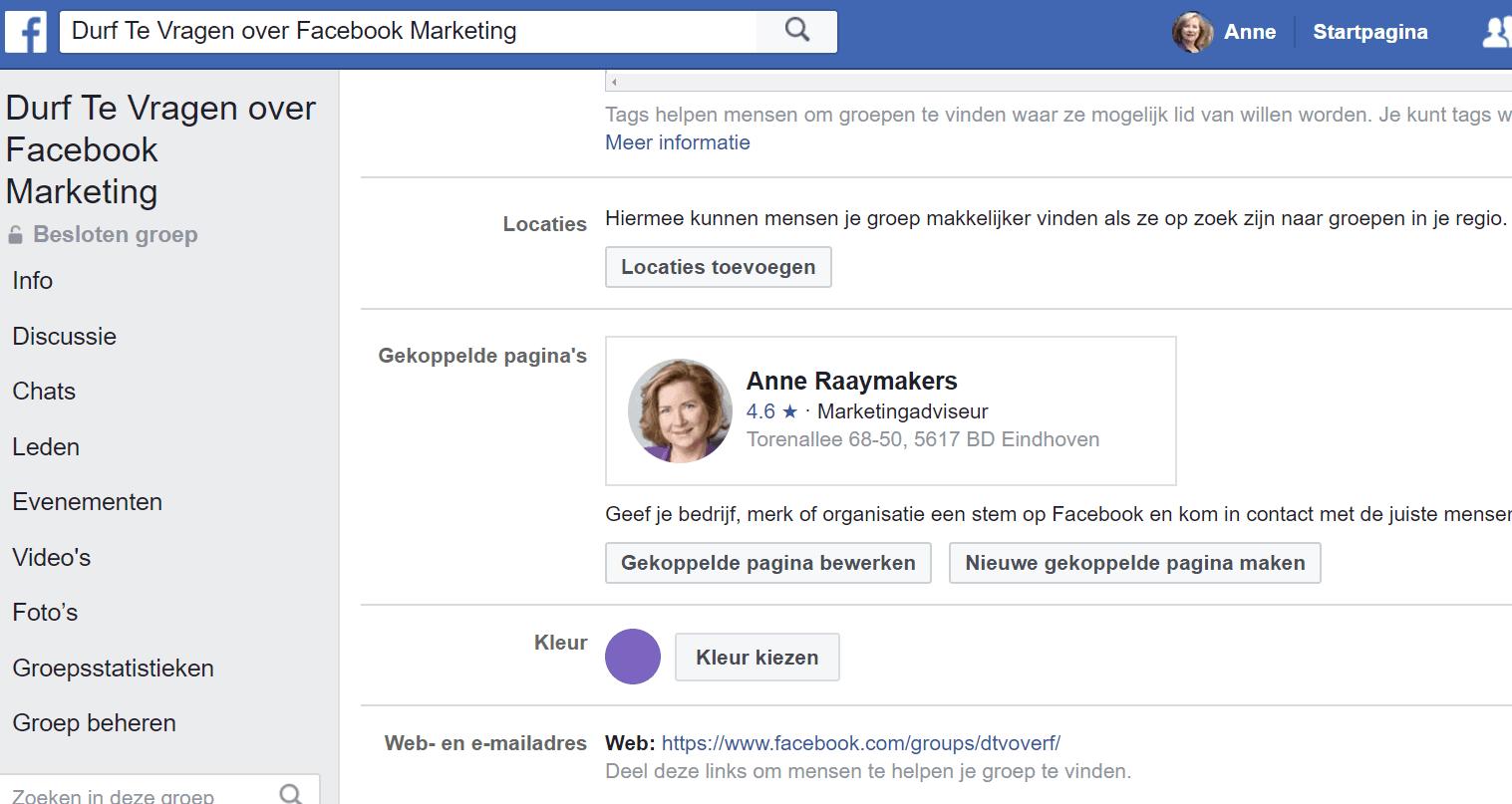 Kies een kleur voor je Facebookgroep