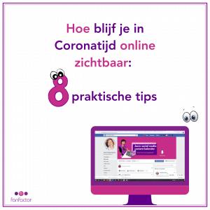 Hoe blijf je in de Coronatijd online zichtbaar