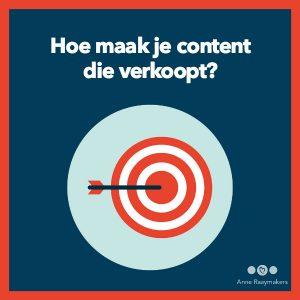 Hoe maak je content die verkoopt?