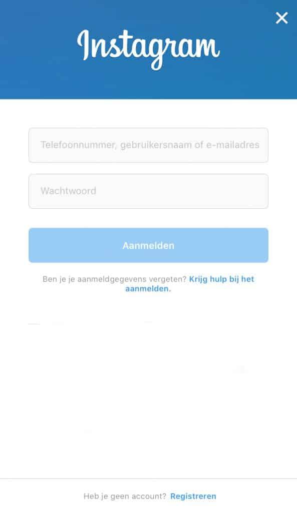 Instagram account aanmaken