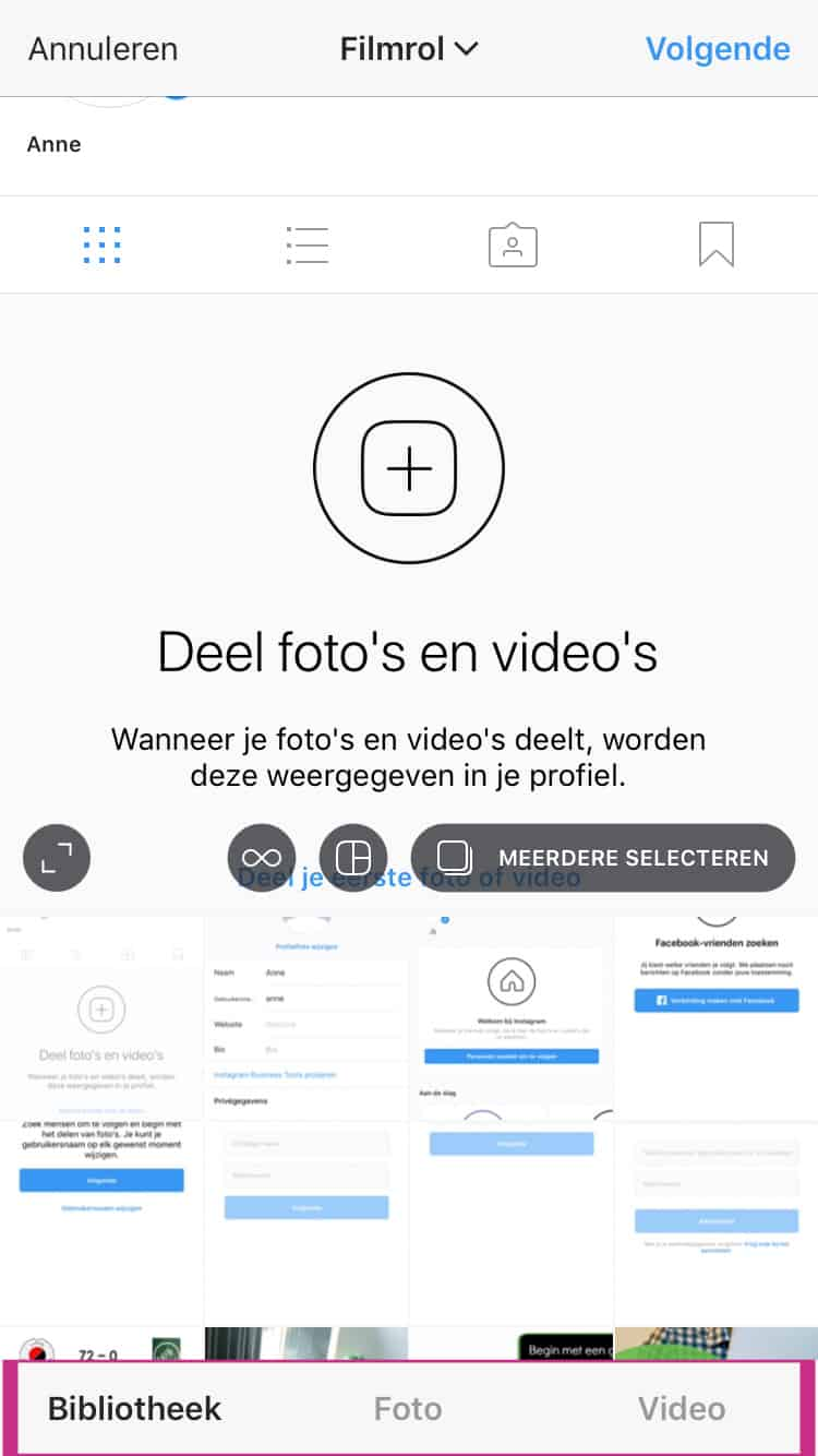 Instagram marketing foto's video