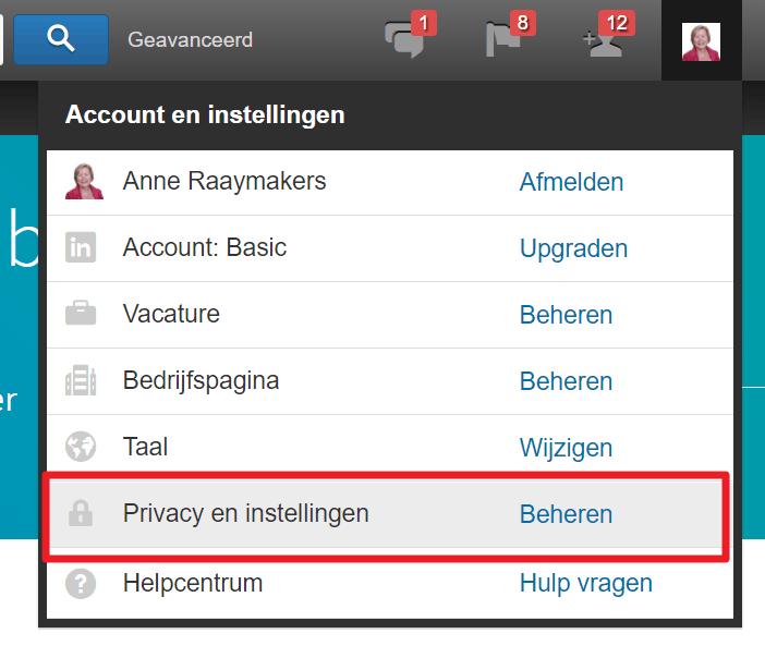 LinkedIn account sluiten