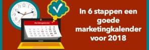In 6 stappen een goede marketingkalender
