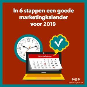 In 6 stappen een goede marketingkalender voor 2019