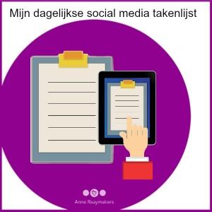 Mijn dagelijkse social media takenlijst