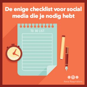 checklist social media
