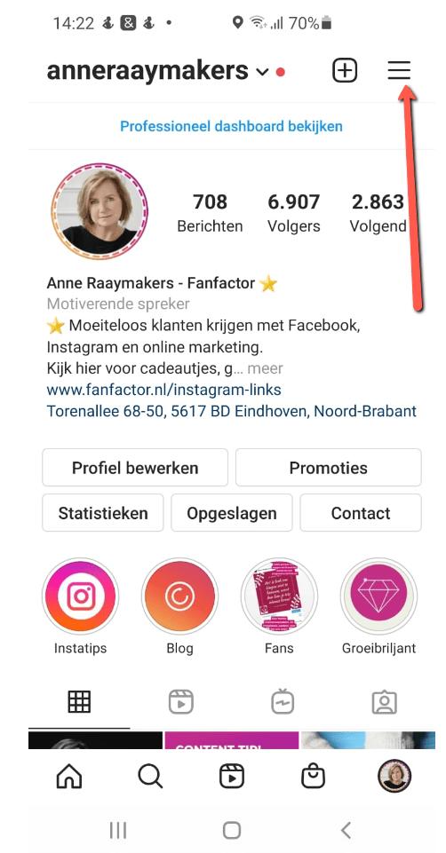 Standaard antwoorden maken Instagram