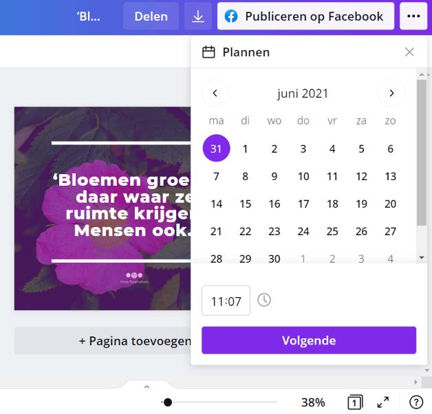 Simpel social media posts inplannen met Canva