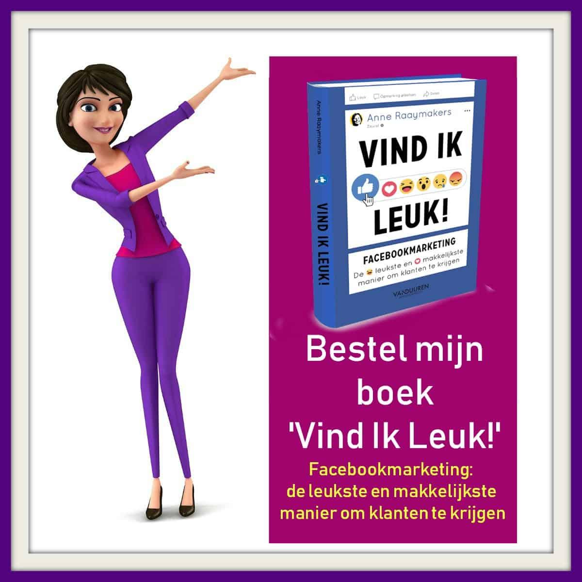 Bestel mijn boek Vind Ik Leuk!