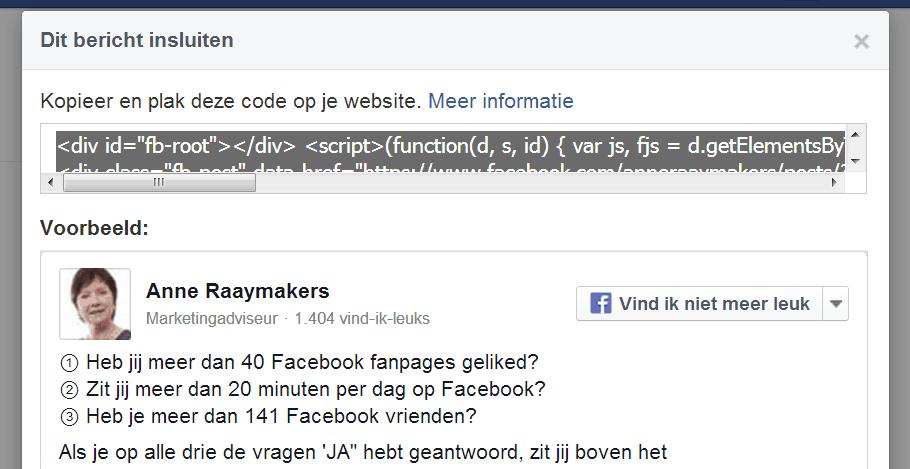 Citaten Weergeven Fb : Facebook berichten op je website of plaatsen