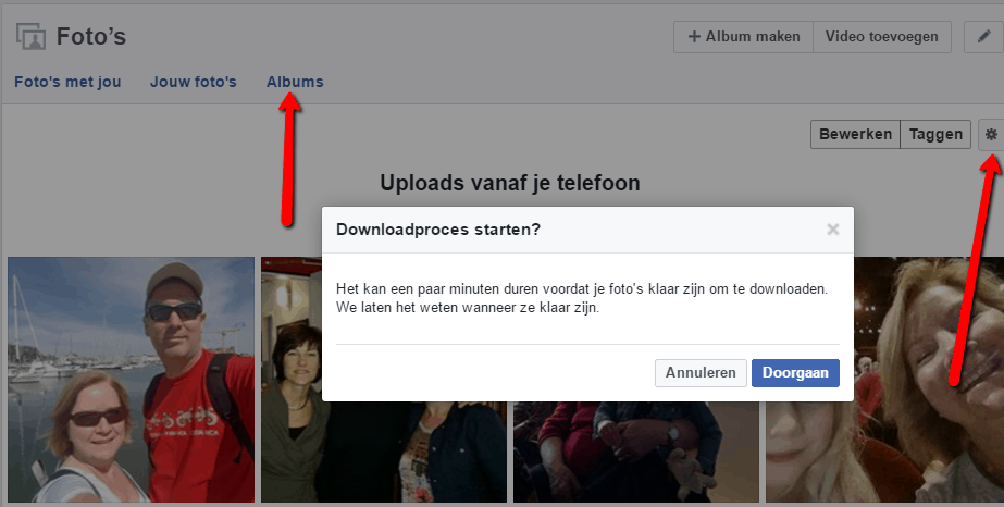 foto's Facebook downloaden
