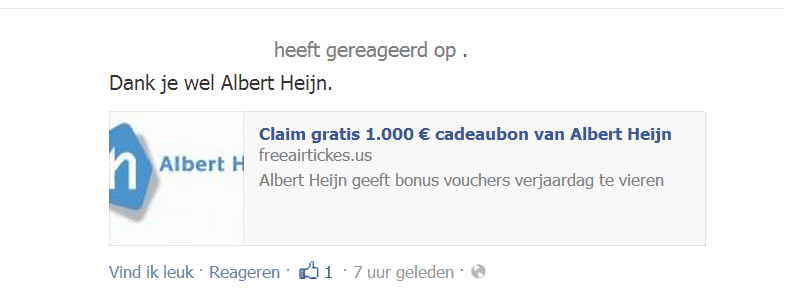 Facebook Albert Heijn