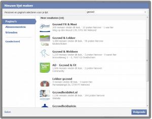 Interesses op Facebook