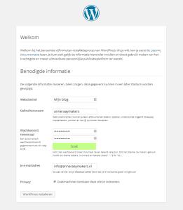 welkom_WordPress